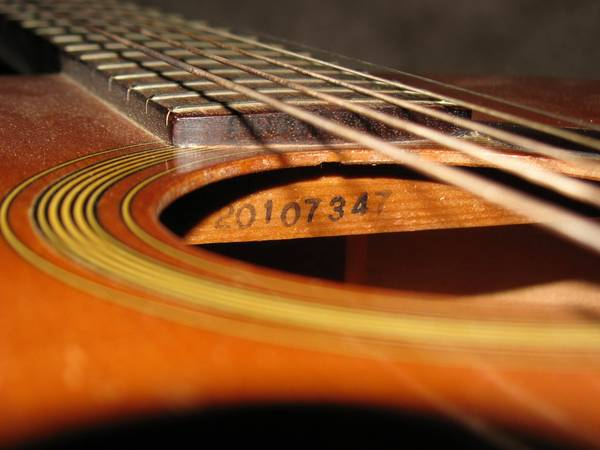 YAMAHA_FG-75_Acoustic_Guitar_Body_Number_20107347